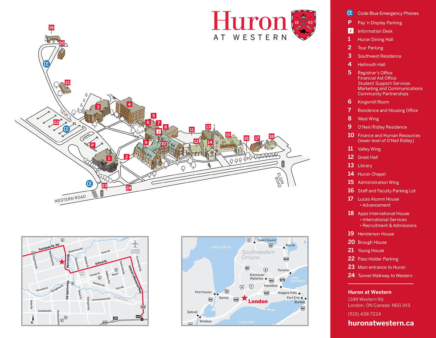 Huron Campus Map