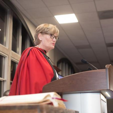 Huron University College confers Honorary Doctor of Divinity to Kelly Meighen, President, T.R. Meighen Family Foundation